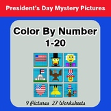 President's Day: Color By Number 1-20 | President's Day My