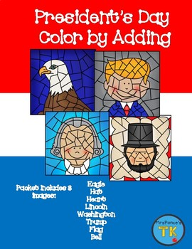President's Day Color by Adding