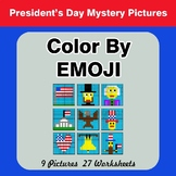 President's Day: Color by Emoji - Mystery Pictures