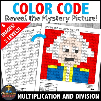 President's Day Color by Number Multiplication and Division