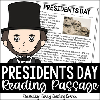 President's Day Comprehension Article