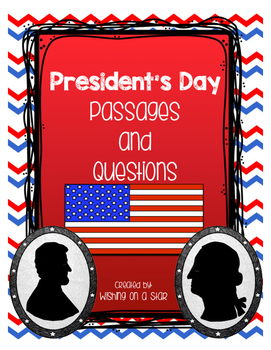 President's Day Comprehension Passages and Writing Prompts