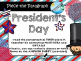 President's Day - Comprehension passage and questions #presidentsdayhalfoff