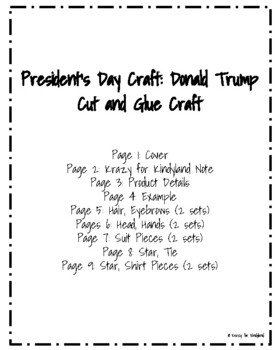 Donald Trump Craft (President's Day, Election)