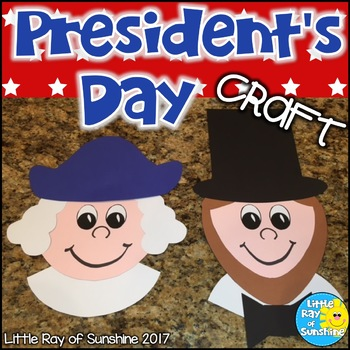 President's Day Craft George & Abe for February