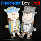 Presidents' Day Craft - George Washington & Abraham Lincoln crafts