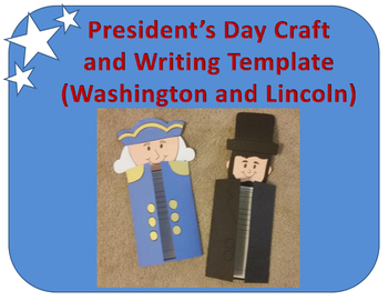 President's Day Craft and Writing Template (Washington and