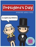 President's Day DIFFERENTIATED Writing Activities in Engli