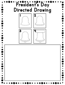 President's Day Directed Drawing Activity for Including Art in any Subject
