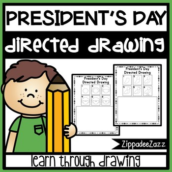 President's Day Directed Drawing Activity Worksheets
