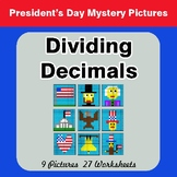 President's Day: Dividing Decimals - Color-By-Number Myste