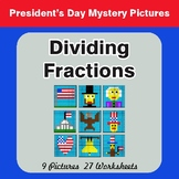 President's Day: Dividing Fractions - Color-By-Number Myst