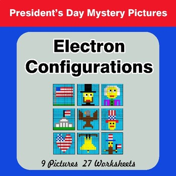 President's Day: Electron Configurations - Mystery Pictures