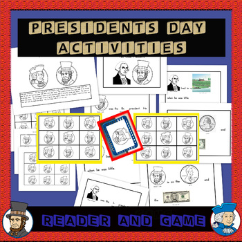 President's Day Emergent Reader and Presidents board game (see preview)