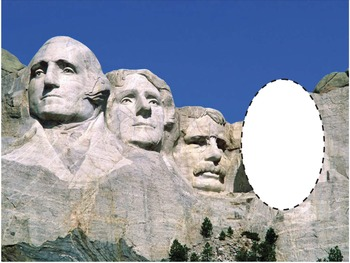 President's Day FREE Mt. Rushmore Be-A-President insert