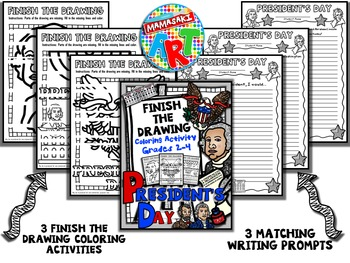 President's Day Finish The Drawing Coloring Activity