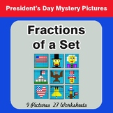 President's Day: Fractions of a Set - Color-By-Number Myst