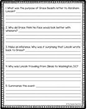 President's Day Freebie Mr. Lincoln's Beard for 4th - 5th Grade