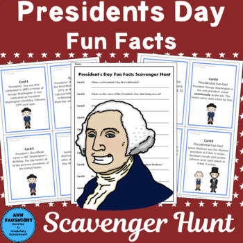President's Day Fun Facts Scavenger Hunt