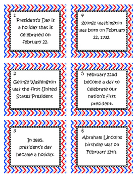 President's Day Grammar Fix It Task Cards