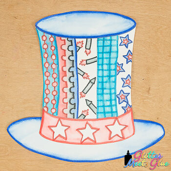 President's Day Hat Game | Uncle Sam Craftivity, Art Sub Plan, & Writing Prompts