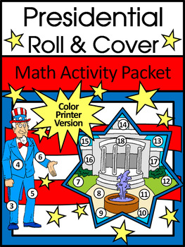 President's Day & Inauguration Math Activities: Presidential Roll & Cover