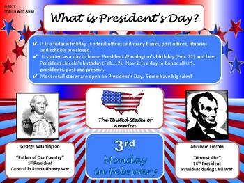 President's Day Informational Poster