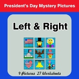 President's Day: Left & Right side - Color by Emoji - Myst