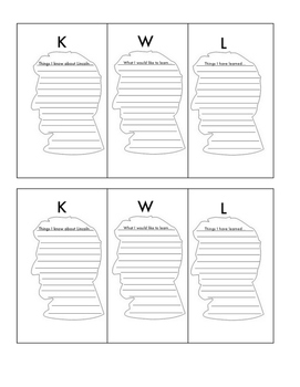 President's Day Lined Paper, and KWL Charts