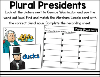 President's Day Literacy and Math Centers