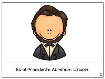 President's Day ~Los Presidentes Lincoln y Washington Readers {Bilingual bundle}
