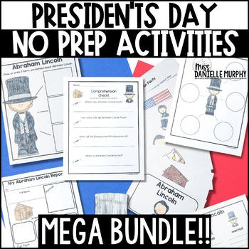 President's Day MEGA BUNDLE for Kindergarten First Second Grade