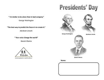 President's Day MIni Book (English)