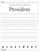 President's Day - Making Words