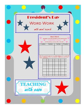 President's Day: Making Words and Extension Activity