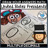 Presidents Day Math Games Multiply Decimals- Zeros in the Product