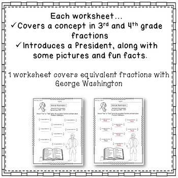 president 39 s day math worksheets 3rd grade 4th grade fractions common core. Black Bedroom Furniture Sets. Home Design Ideas