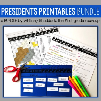 President's Day Math and Literacy BUNDLE