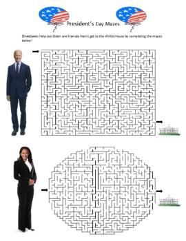 President's Day Mazes
