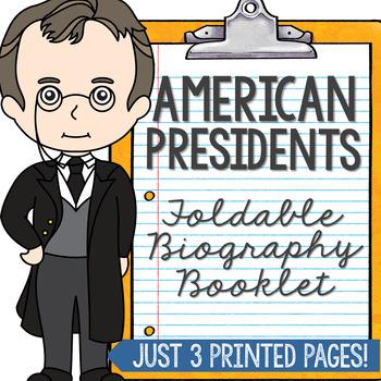 American Presidents Mini Book, Interactive Notebook, Presi
