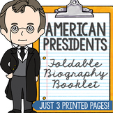 American Presidents Mini Book, Interactive Notebook, Presi