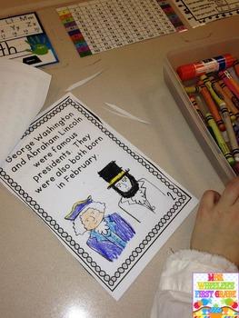 First Grade Mini-Book: President's Day