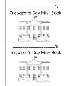 President's Day Mini-Book
