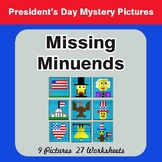 President's Day: Missing Minuends - Color-By-Number Myster
