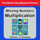 President's Day: Missing Numbers Multiplication - Mystery