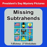 President's Day: Missing Subtrahends - Color-By-Number Mys