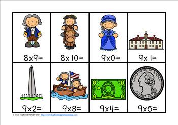 President's Day Multiplication Race