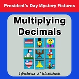 President's Day: Multiplying Decimals - Color-By-Number My