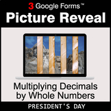 President's Day: Multiplying Decimals by Whole Numbers - G