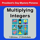 President's Day: Multiplying Integers - Color-By-Number My